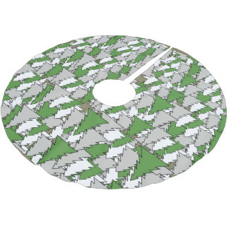 CHRISTMAS TREE PATTERN by Slipperywindow Brushed Polyester Tree Skirt