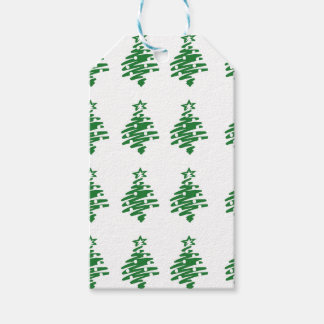 Christmas Tree Pattern Gift Tags