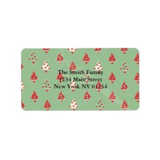 Christmas Tree Pattern Label