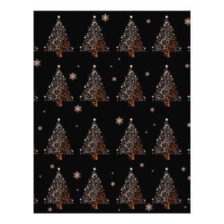 Christmas tree - pattern letterhead