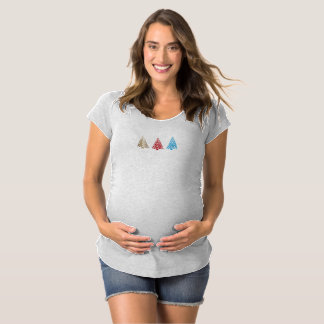 Christmas Tree Pattern Maternity T-Shirt