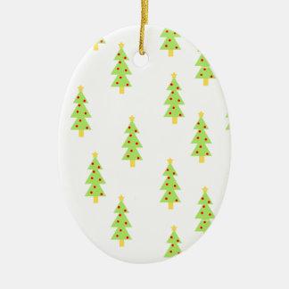 christmas tree pattern mid century modern vintage ceramic ornament