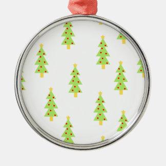 christmas tree pattern mid century modern vintage metal ornament