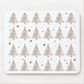Christmas tree - pattern mouse pad