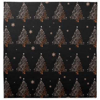 Christmas tree - pattern napkin