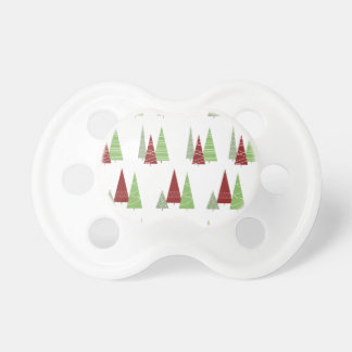 Christmas Tree Pattern Pacifier