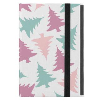 Christmas tree pattern pastel pink purple green case for iPad mini