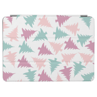 Christmas tree pattern pastel pink purple green iPad air cover