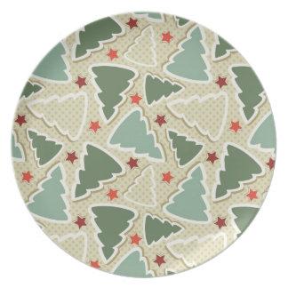 Christmas Tree Pattern Plate