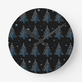 Christmas tree - pattern round clock