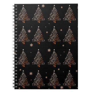 Christmas tree - pattern spiral notebook