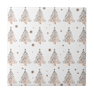 Christmas tree - pattern tile