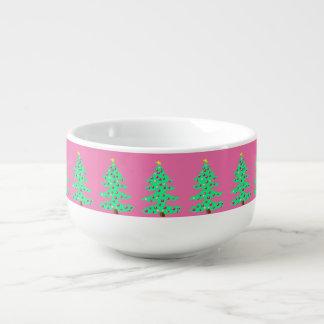 Christmas Tree Pink Girl Holiday Soup Chili Bowl 2 Soup Mug