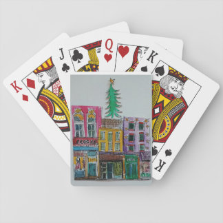 Christmas tree playing cards