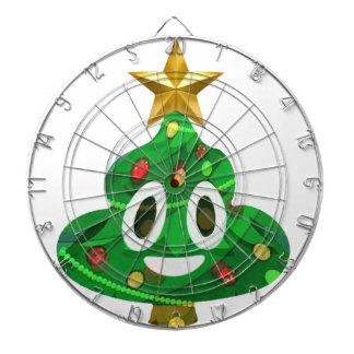 Christmas Tree Poop Emoji Dartboard