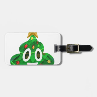 Christmas Tree Poop Emoji Luggage Tag