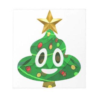Christmas Tree Poop Emoji Notepad