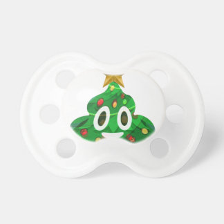 Christmas Tree Poop Emoji Pacifier