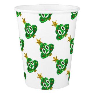 Christmas Tree Poop Emoji Paper Cup