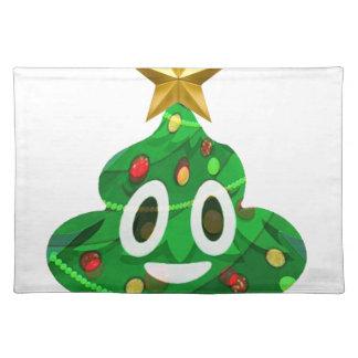 Christmas Tree Poop Emoji Placemat