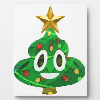 Christmas Tree Poop Emoji Plaque