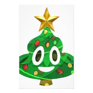 Christmas Tree Poop Emoji Stationery