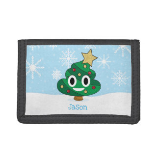 Christmas Tree Poop Emoji Wallet
