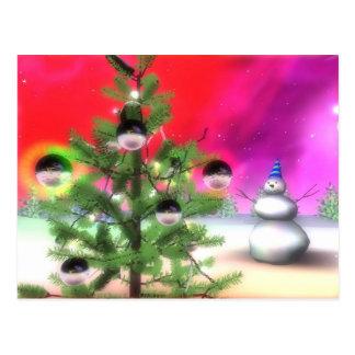 christmas-tree postcard
