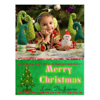 Christmas Tree  Postcard Personalized