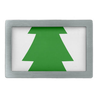 Christmas Tree Rectangular Belt Buckles