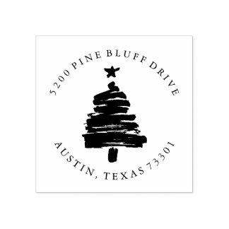 Christmas Tree | Return Address Rubber Stamp