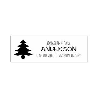 Christmas Tree Return Address Self-inking Stamp