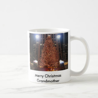 christmas-tree-rockefeller-center, Merry Christ... Coffee Mug