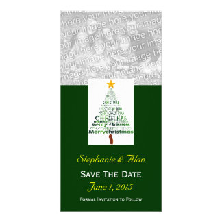 Christmas Tree Save The Date PhotoCards Photo Card Template
