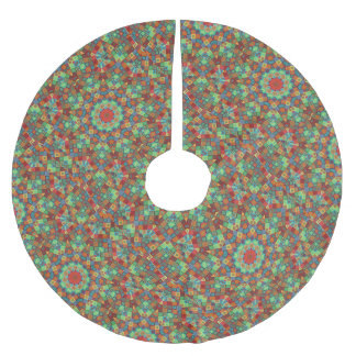 Christmas Tree Skirt Colorful Patchwork Quilt Star
