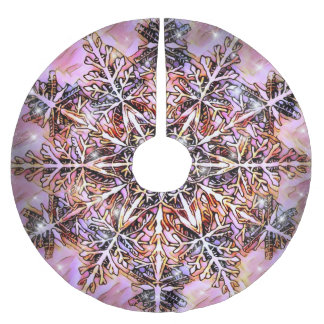 Christmas Tree Skirt Snowflake by Artful Oasis