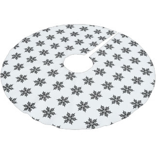 Christmas Tree Skirt-Snowflakes Brushed Polyester Tree Skirt