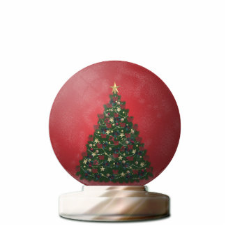 Christmas Tree Snow Globe Standing Photo Sculpture