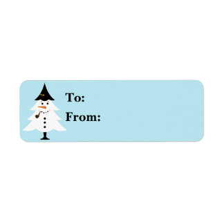 Christmas Tree Snowman Gift Lables Return Address Label