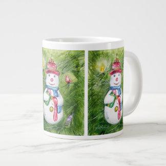 Christmas Tree Snowman Jumbo Mug