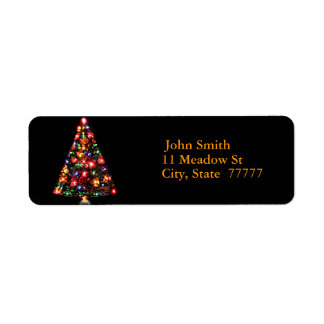 Christmas Tree Sparkle Return Address Label