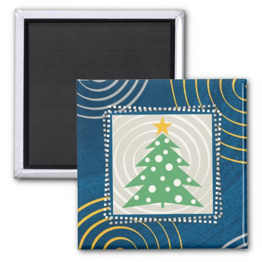 Christmas Tree - Square Magnet