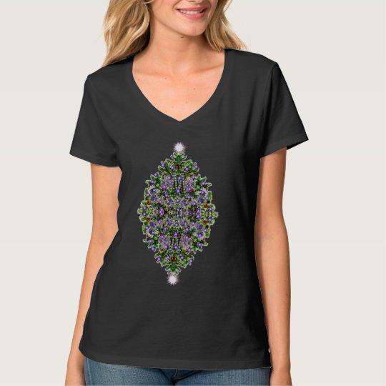 Christmas Tree Star Glow T-Shirt