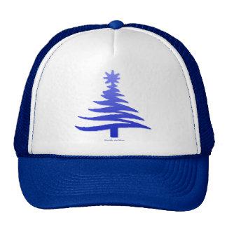 Christmas Tree Stencil Cobalt Blue Trucker Hat