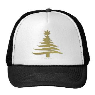 Christmas Tree Stencil Gold Trucker Hat