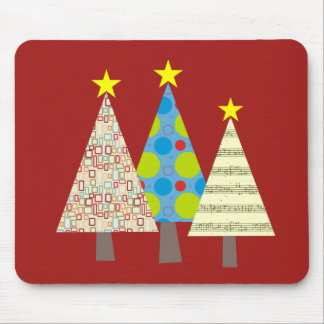 Christmas Tree Stylish Colorful Geometric Modern Mouse Pad