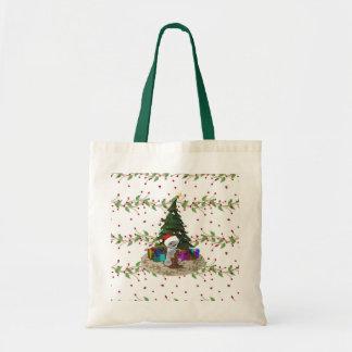 Christmas Tree Teddy Tote Bag