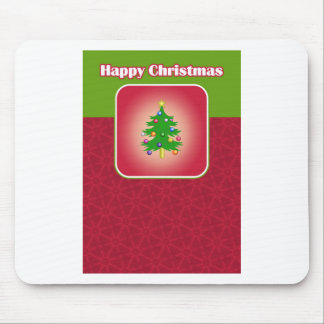 Christmas Tree Template Mouse Pad