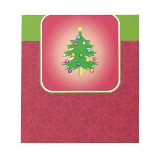Christmas Tree Template Notepad
