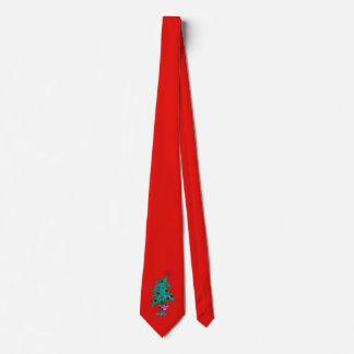 Christmas Tree Tie - Red - Humorous Christmas Tree